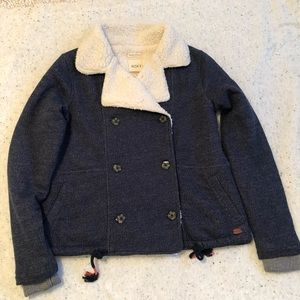 Roxy Blue Fleece Coat Small